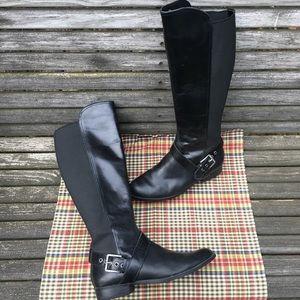 Black Leather Riding Boot Style Liz Claiborne sz 9